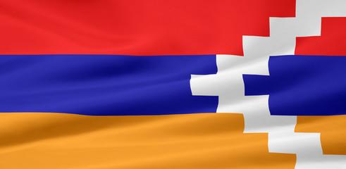 Flagge von Bergkarabach