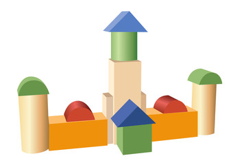 toy construction building vector