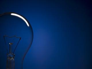 Bulb light over blue