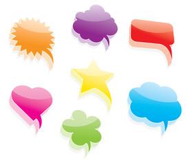 Vector colorful talk bubbles