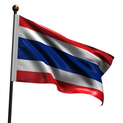 High resolution flag of Thailand
