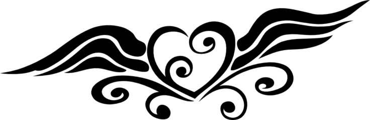 Geflügeltes Herz, filigran