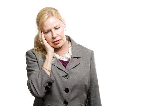 Depressed older business woman