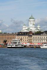 Beautiful view of Helsinki harbor, Finland