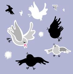 Birds  silhouettes  vector.