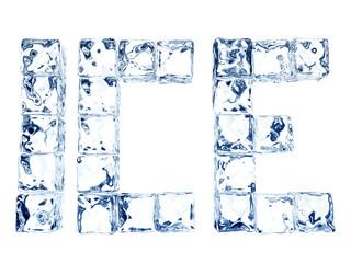 ICE Eiswürfelschriftzug Frontal