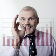 homme d'affaires graphique positif