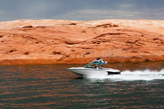 Speedboat at Lake Powell