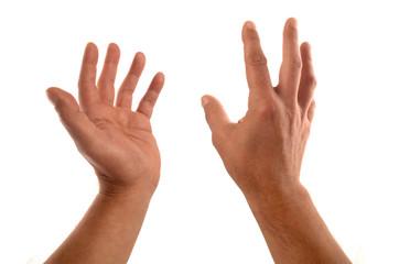 expression des deux mains