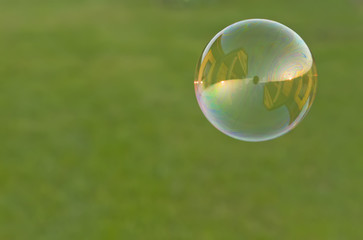 House in soap bubble