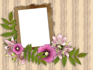 frame and floral beautiful bouquet