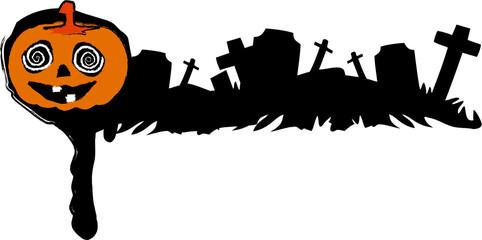 the vector halloween cemetery banner