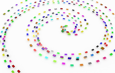 Color Email Spiral