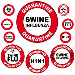 schweineinfluenza quarantäne schild