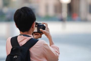 Tourist beim fotografieren