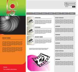 vector web template