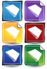three ring binder icon color