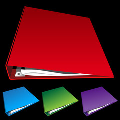 three ring binder set