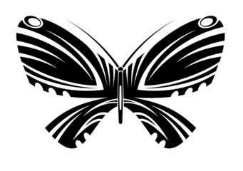 Tribal tattoo butterfly