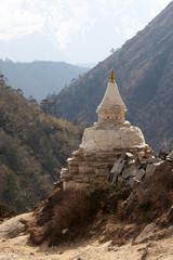 Old buddhist stupa in Tibet, Himalayas, Nepal