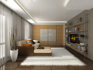 Living-room in the modern apartment