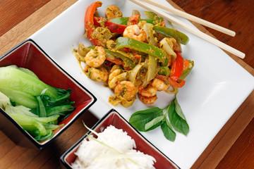 Thai prawn stir fry
