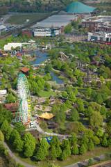 vue aérienne d'un parc d'attraction chinois en Allemagne