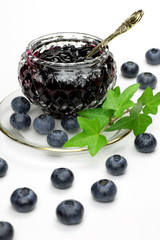 blueberry jam and blueberry