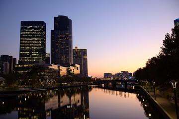 Evening in Melbourne CBD