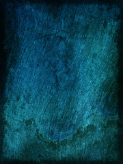Background / wallpaper blue rough wood texture with scratches