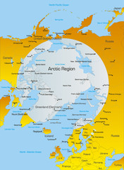 Vector Color Illustration of North pole