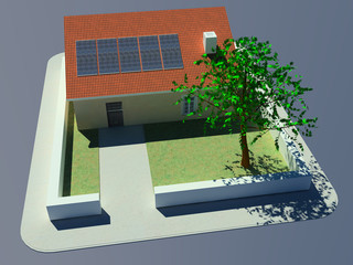 maison panneaux photovoltaïque