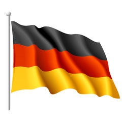 German flag. Vector.
