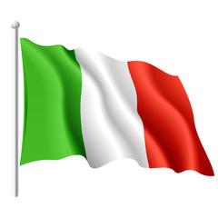 Italian flag. Vector.