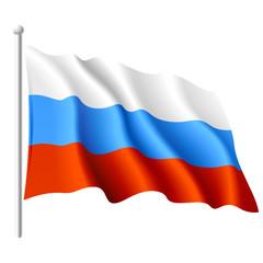 Russian flag. Vector.