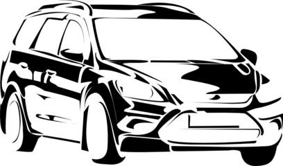 car sketch vector
