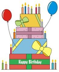 Obraz urodziny - fototapety do salonu