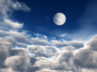 Full Moon over Clouds