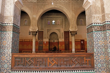 Mihrab inf Ben Youssef madrasah, Marrakech