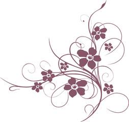 Blumen Ornament, floral, Blüten, rot
