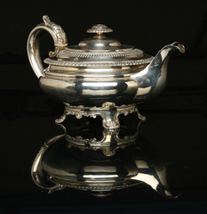 Beautiful silver teapot. More in gallery