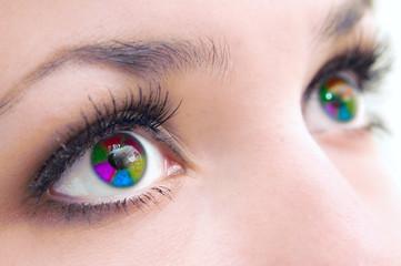 Eyes multicoloured