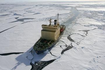 Icebreaker on Antarctica