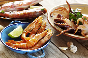 seafood outdoors