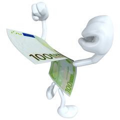 Euro Money Man Concept