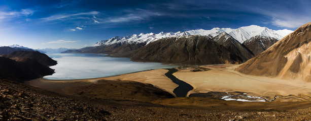 pangong tso lake, indien/china
