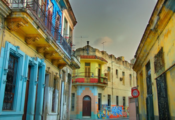 Colorful Havana buildings