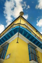 Tropical building facade