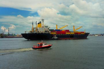 Ship on Havana bay