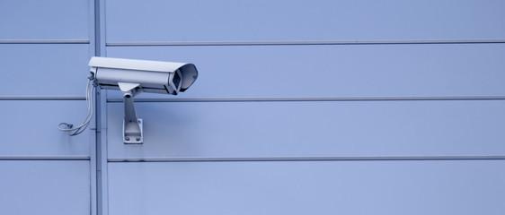 Security camera - lots of copyspace